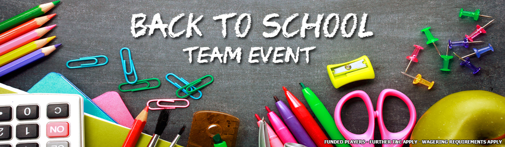 Back To School Team Event banner